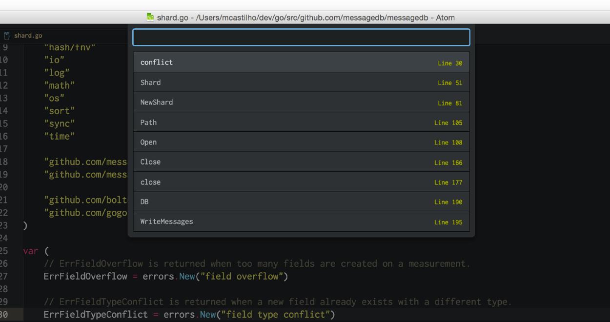 Supercharging the Atom Editor for Go Development · marcio io